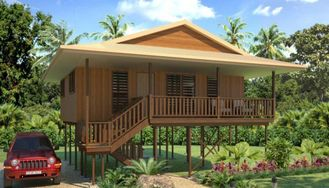 China Holidays Thailand Wooden House Bungalow , Koh Samui Beach Bungalows supplier