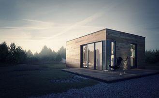 China Prefabricated House Prefab Garden Studio with Light Steel Frame Storage supplier