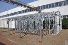 China Metal Car Sheds Light Steel Frame Sheds Moistureproof Strong Frame With A Storage factory